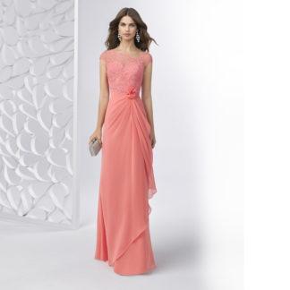 vestido largo coral