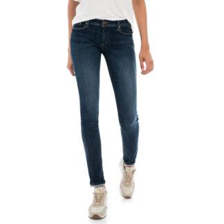 "Jeans azul oscuro pitillo efecto ""push-up premium flex"""
