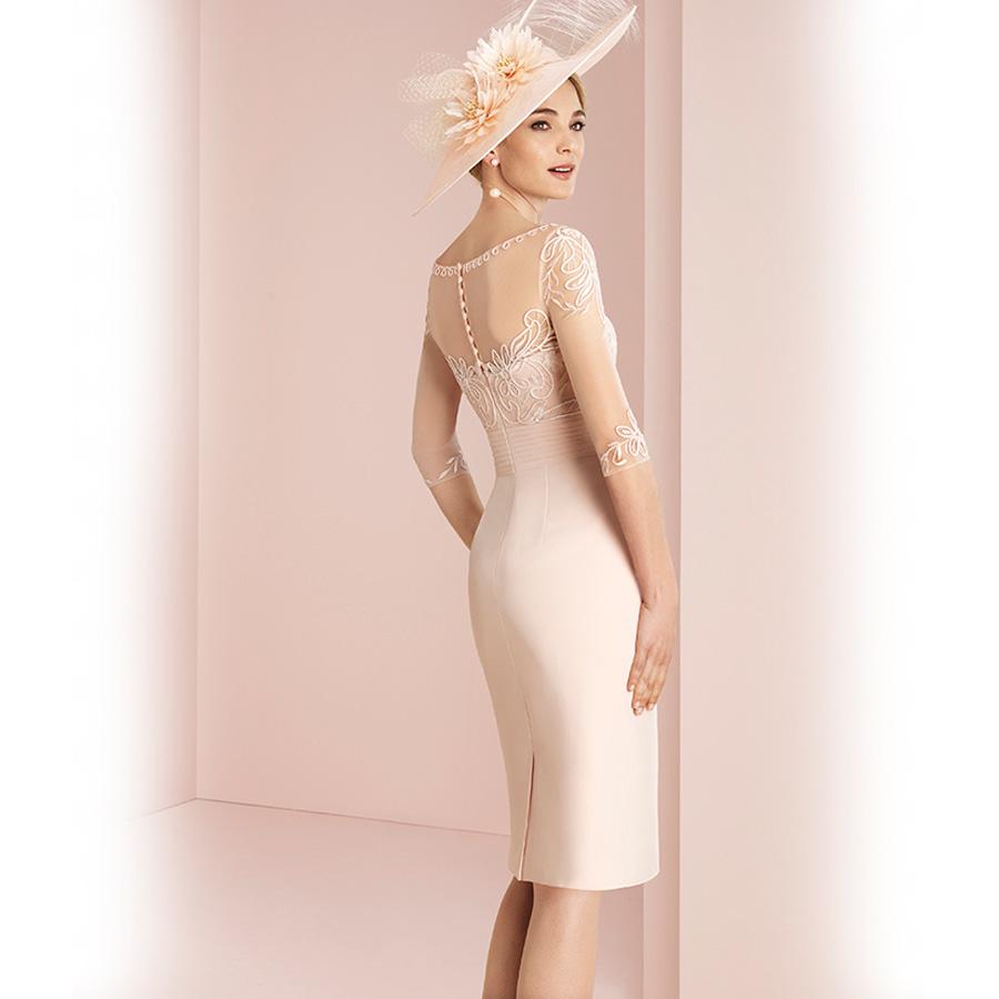 Bonito Vestidos De Novia Corto Crema Modelo - Colección de Vestidos ...