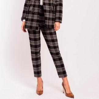 pantalones tobillero de la linea joven de alba conde en tweed cuadros