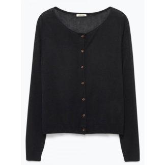 chaqueta de punto corta negra de mujer de American Vintage