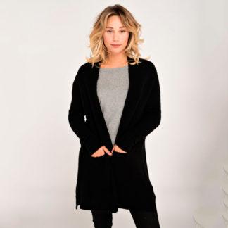 chaqueta larga negra de mujer de american vintage