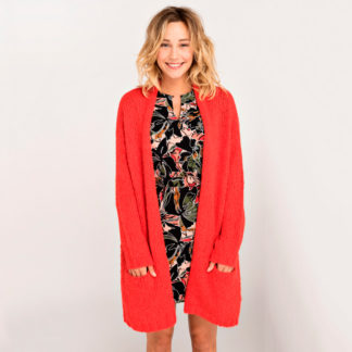 chaqueta oversize roja de mujer de AMERICAN VINTAGE