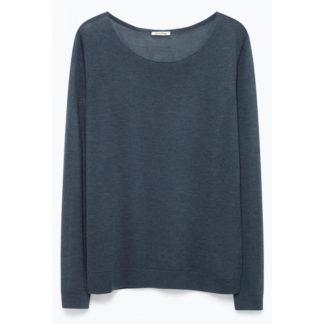jersey de punto muy fino de mujer en color gris plomo de American Vintage