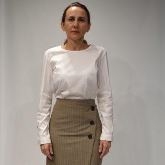 Blusa blanca popelin elastico Carlina 217 TROVELS