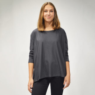 camiseta oversize gris de please