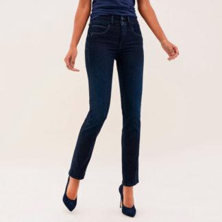 Jeans bordados efecto push in salsa