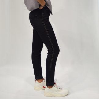 Jeans navy ajustado con cinta lateral Selo de Jocavi