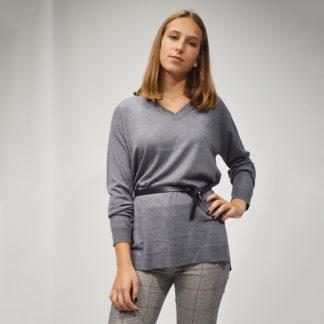 jersey gris de mujer de punto oversize nice things
