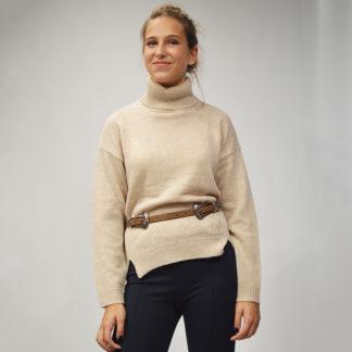 Jersey lana arena con cuello cisne WKH010 NICE THINGS