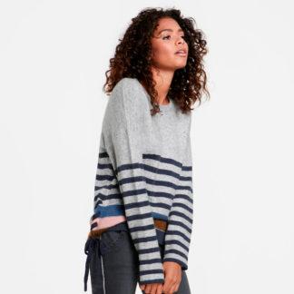 Jersey lana rustico con rayas TAIFUN