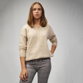 Jersey punto de lana arena de mujer NICE THINGS