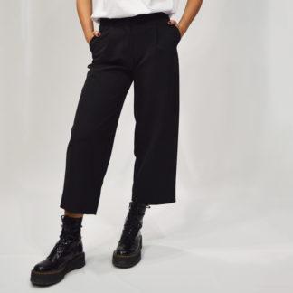 pantalón negro palazzo de please