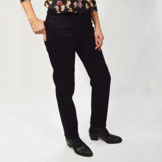 Pantalon 5 bolsillos denim negro Nila JOCAVI