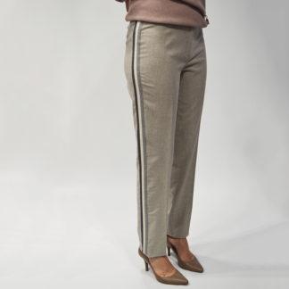 Pantalon de franela gris con banda lateral R0620Y01 DIANA GALLESI