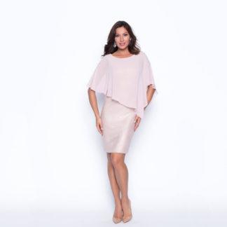 Vestido corto rosa capelina 198163 FRANK LYMAN 16cc69694d86