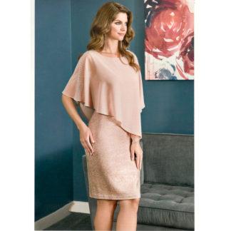 Vestido corto rosa capelina 198163 FRANK LYMAN