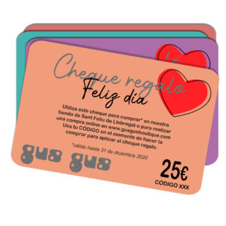 CHEQUES REGALO GUS GUS BOUTIQUE