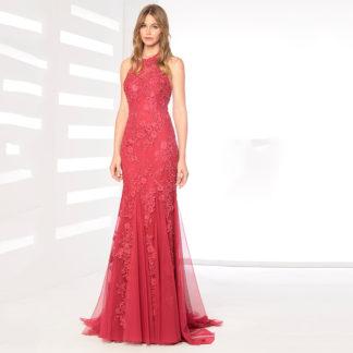 Vestido sirena rojo encaje 30202 KOTON