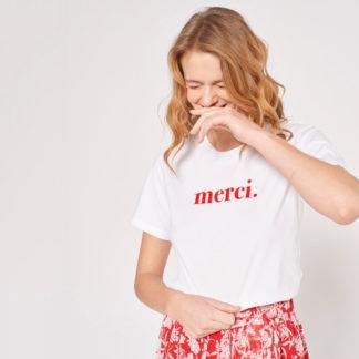 Camiseta blanca print Merci Salome GRACE & MILA