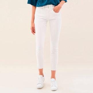 Jeans tobillero blanco push in 121557 SALSA