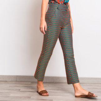 pantalon tobillero brocado de alba conde