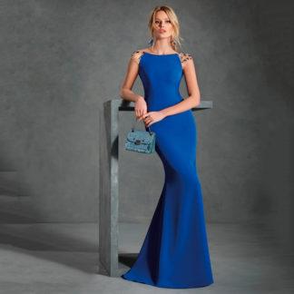 Vestido largo azul klein sirena A 2108 ANGELA ARIZA