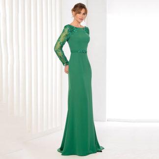 Vestido de fiesta escote asimétrico y falda con volumen 10265 KOTON