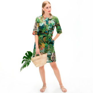 Vestido safari print forest VEBINS9021 VILAGALLO