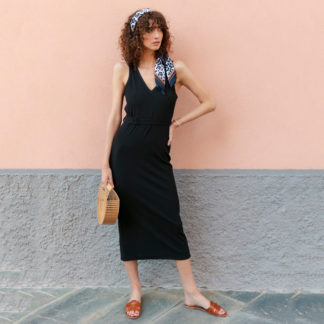 Vestido punto negro stockholm grace and mila