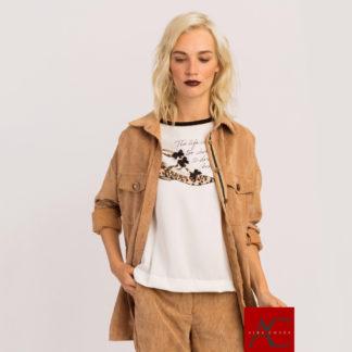 camisa amplia de pana camel de AC