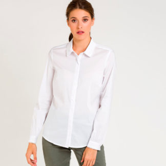 Camisa blanca con remate piquillo Naf Naf