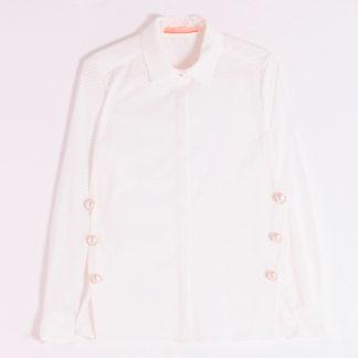 Camisa botones perlas con textura espiga vilagallo