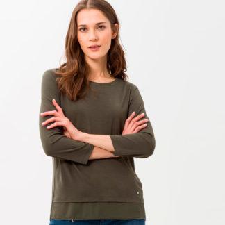 camiseta de mujer kaki Brax
