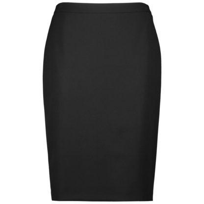 Falda recta lisa con corte detras y cremallera invisible gerry weber