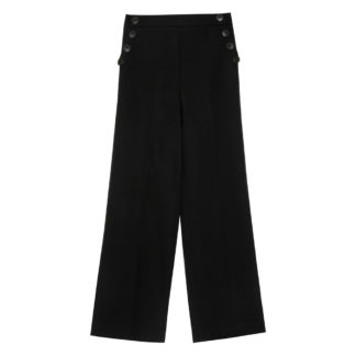 Pantalon palazzo negro cintura elastica grace and mila