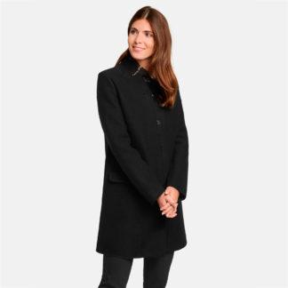 Abrigo negro con remates tallo vivo gerry weber