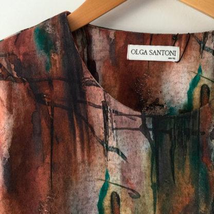 Camiseta tejido grueso estampado oxido olga santoni