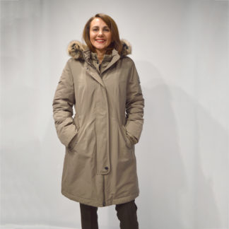 parka larga entallada con capucha desmontable de Gerry Weber mujer