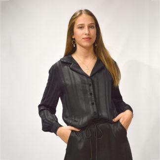 Camisa pijamera riveteada en terciopelo Suncoo