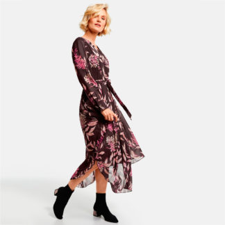 Vestido largo de georgette estampado gerry weber