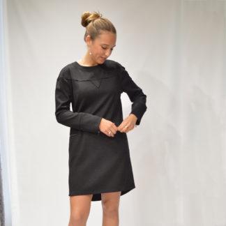 Vestido sudadera con cremalleras