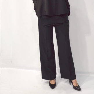 Pantalón de vestir negro palazzo