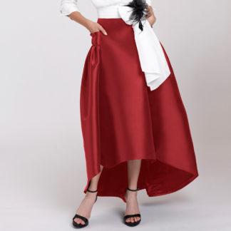 falda asimetrica con bolsillos alba conde fiesta