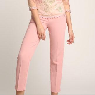 Pantalon vestir rosa palo Alba Conde Fiesta