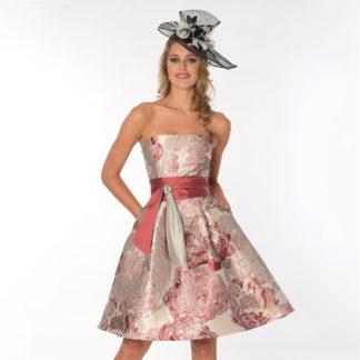 vestido corto brocado koton