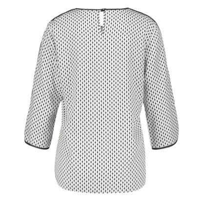 Blusa manga francesa con vivos negros estampada gerry weber