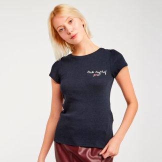 Camiseta con bordado y lazos Naf Naf