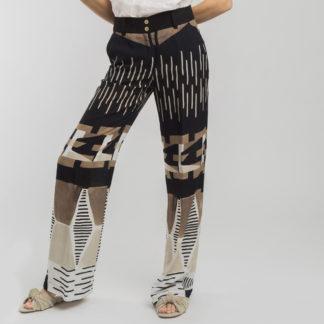 Pantalon estampado etnico Alba Conde