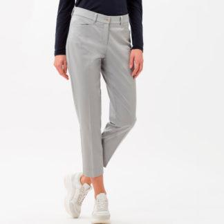 Pantalón tobillero de algodón satinado Brax